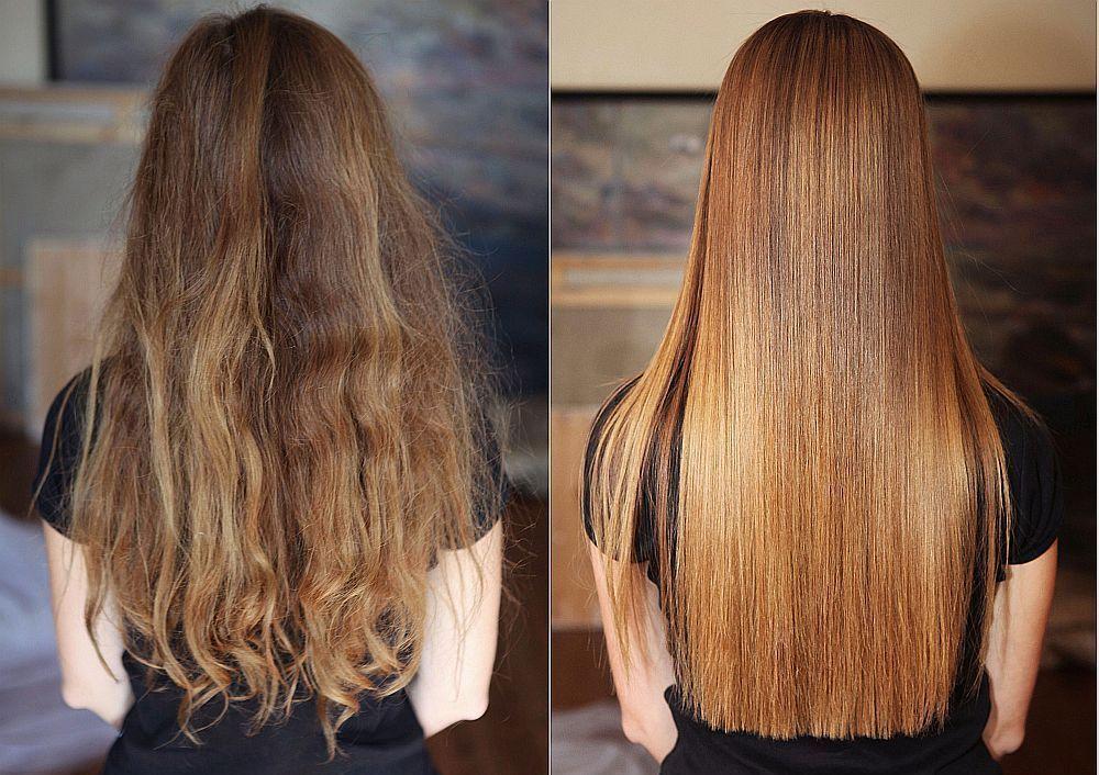 Волосы после кератинового насыщения